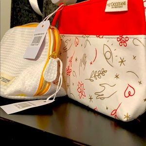 Makeup bags (2) new with tags l'occitane